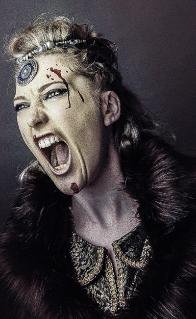 Big Stick Photography Portrait of girl as Vikings TV style programme Lagartha character